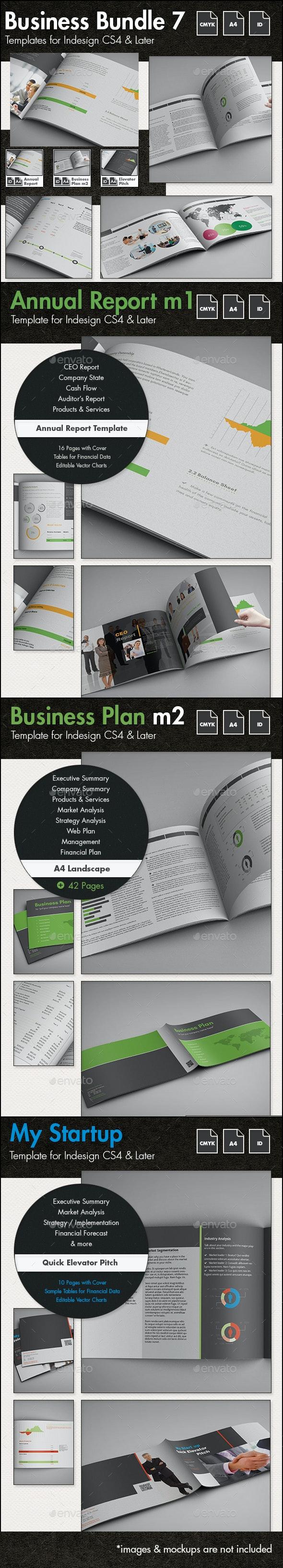Business Templates Bundle 7 - A4 Landscape - Corporate Brochures
