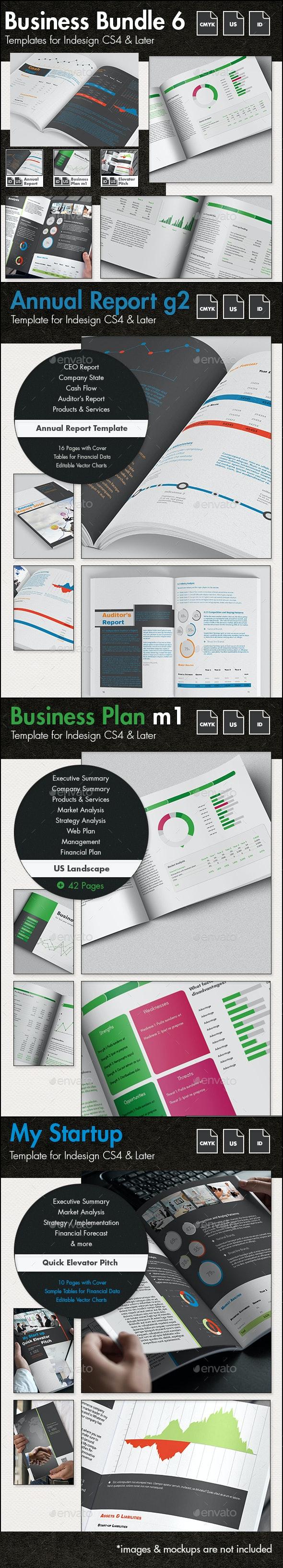 Business Templates Bundle VI - US Letter - Corporate Brochures