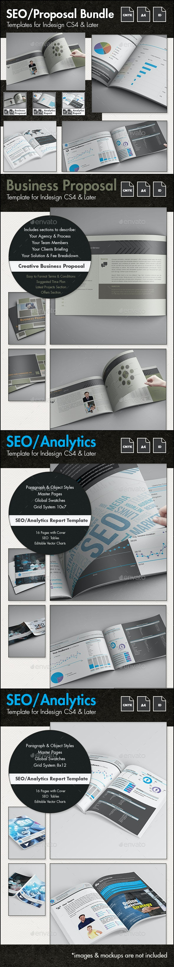 SEO - Business Proposal Templates Bundle - Proposals & Invoices Stationery