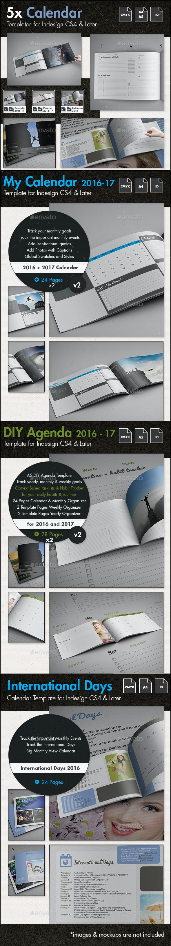 The Ultimate Calendar Bundle for 2016 and 2017 - Calendars Stationery