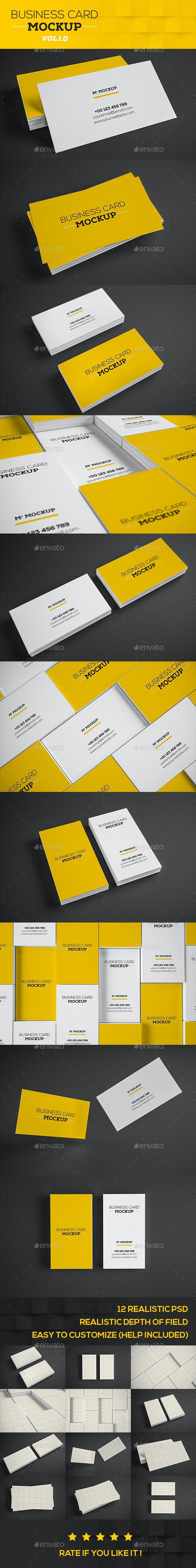 Realistic Business Card Mock-up V1 - Product Mock-Ups Graphics