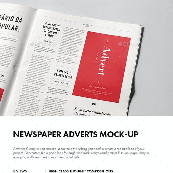 Newspaper Adverts Mock-up