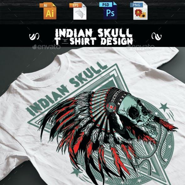 Indian Skull T-shirt design