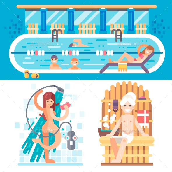 Welcome to the Swimming Pool - Sports/Activity Conceptual
