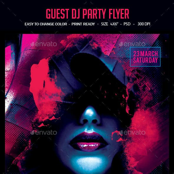 Hot Purple Party Flyer