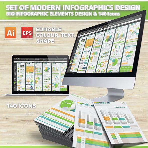 Set Of Modern Infographics Elements Design