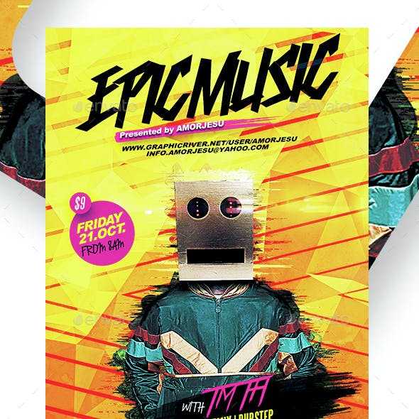 Epic Music Flyer Template