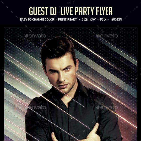 Guest Dj  Live Party Flyer