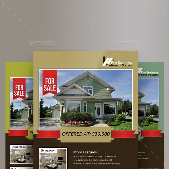 3 Real Estate Agency Flyer Bundle