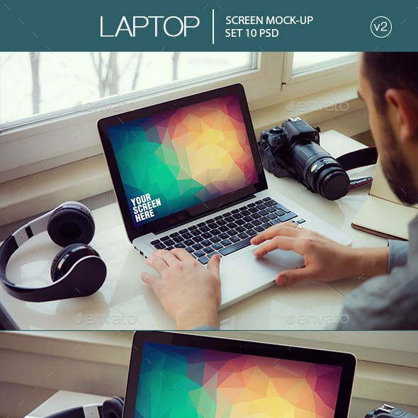 Laptop Screen Mockup v2