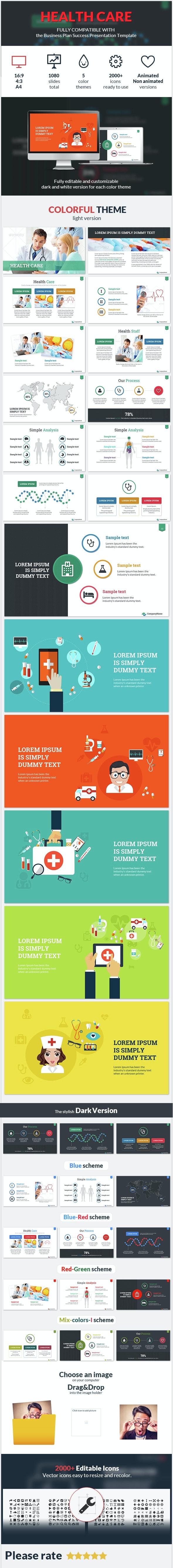 Health Care Success Presentation Template - Business PowerPoint Templates