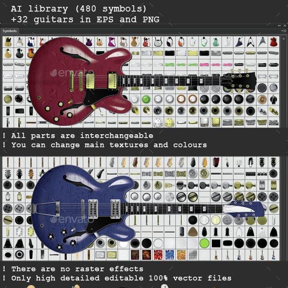 Guitar Creation Kit with 32 guitars