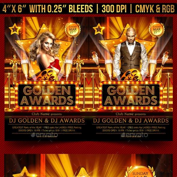 Golden Awards Flyer Template