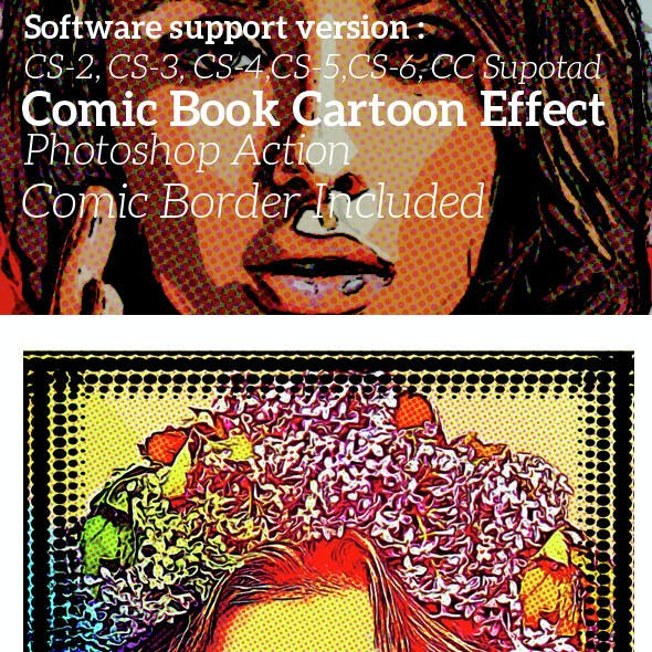 Comic Book Cartoon Effect Photoshop Action