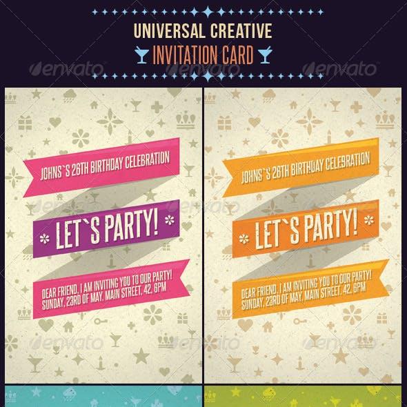 Universal Creative Invitation Card