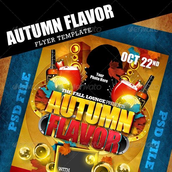 Autumn Flavor Flyer Template