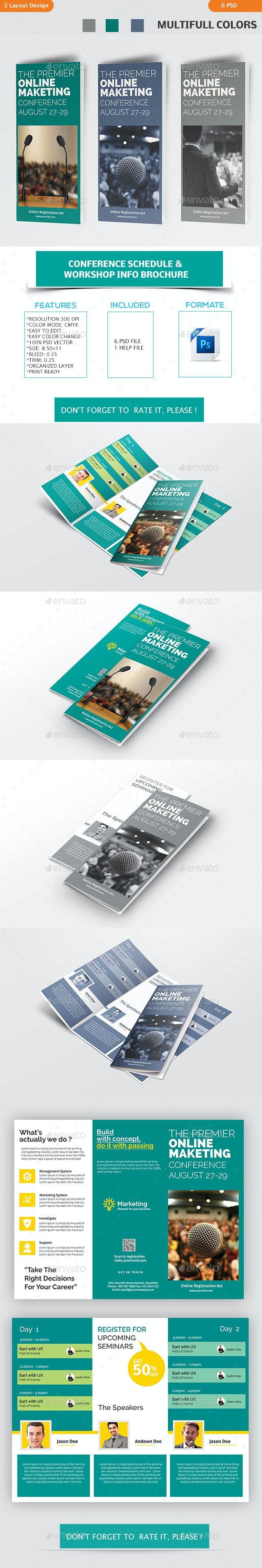 Conference Schedule & Workshop Info Brochure - Corporate Brochures