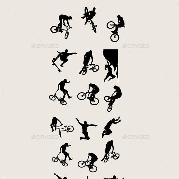 Bike Sport Silhouettes