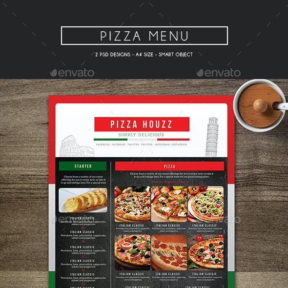 Compre seu Modelo de Cardápio Pizza personalizado para seu negócio