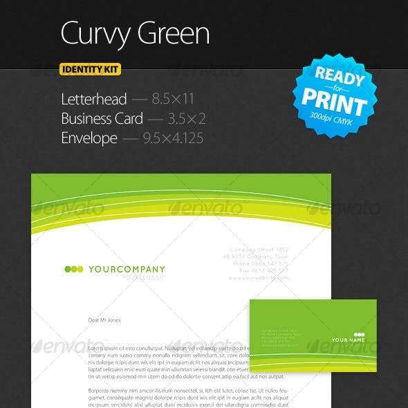 Curvy Green - Identity Kit