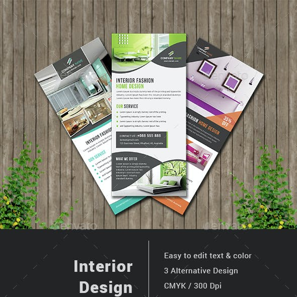 Interior Design Rack Card