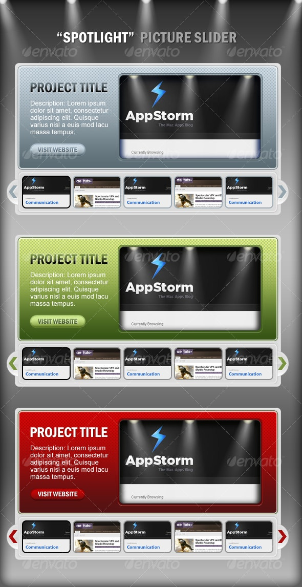 Spotlight Classic Corporate Style Thumbail Slider - Web Elements