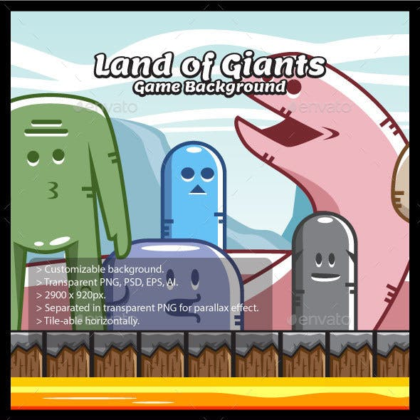 Land of Giant Monsters Game Background