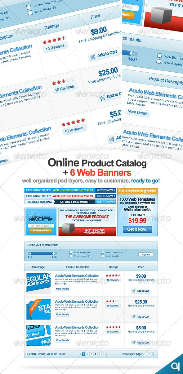 Online Product Catalog + 6 Banners - Miscellaneous Graphics