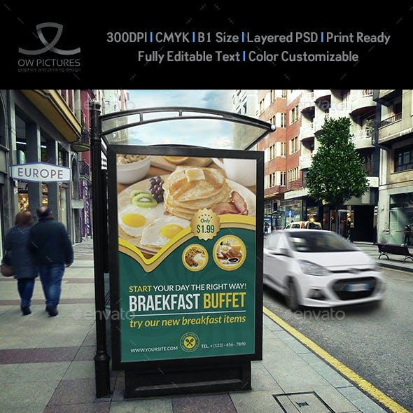Breakfast Restaurant Poster Template