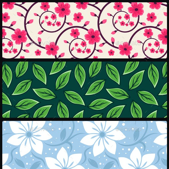 20 Spring Floral Seamless Vector Patterns