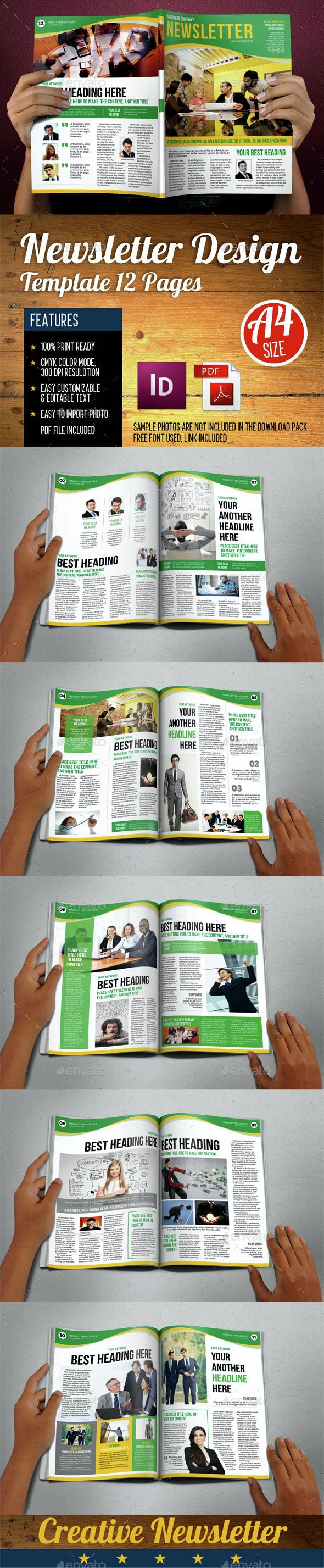 Newsletters Template 12 Pages Vol.4  - Newsletters Print Templates