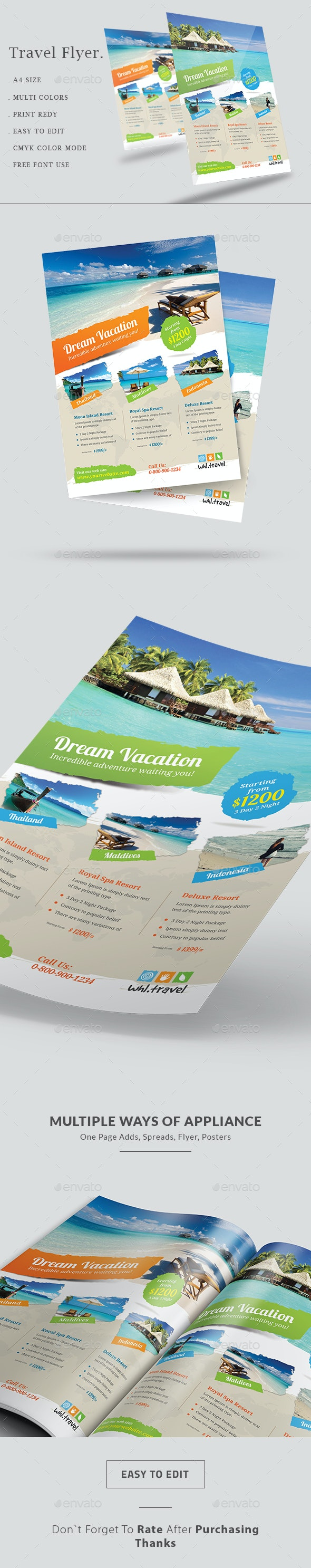 Holiday Travel & Vacation Flyer - Holidays Events