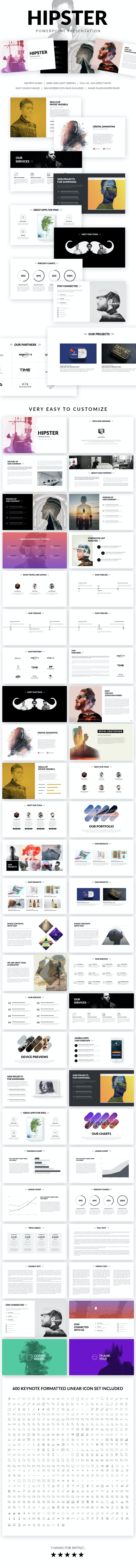 Hipster Powerpoint Presentation Template - PowerPoint Templates Presentation Templates