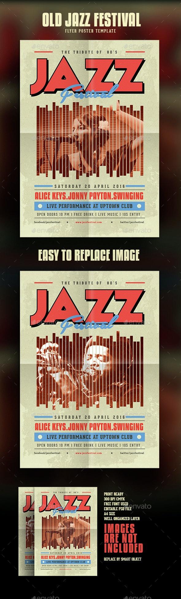 Old Vintage Jazz Flyer - Events Flyers