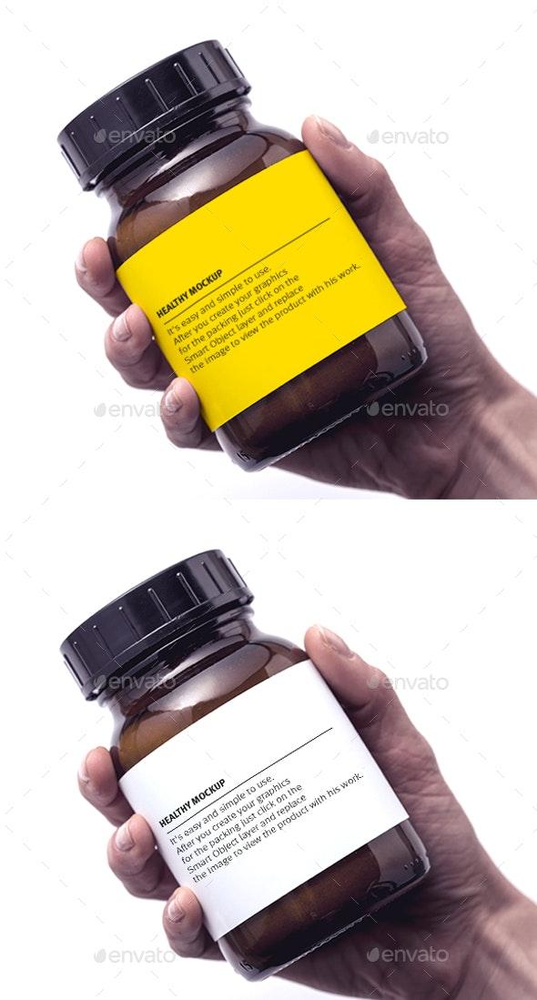 Drug mockup - Product Mock-Ups Graphics
