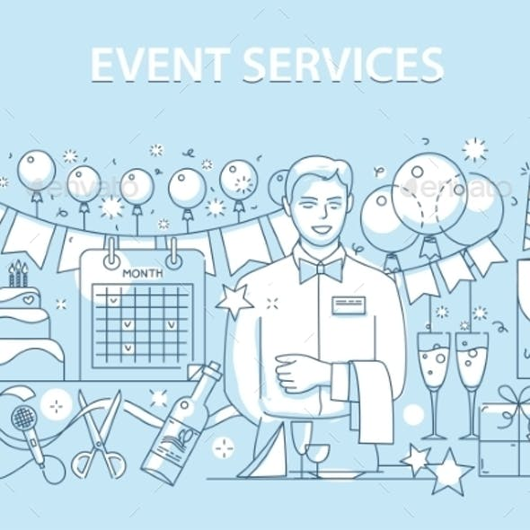 Line Style Design Concept of Special Event Service