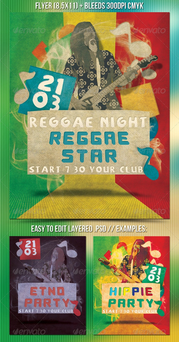 Reggae Party Flyer - Clubs & Parties Events