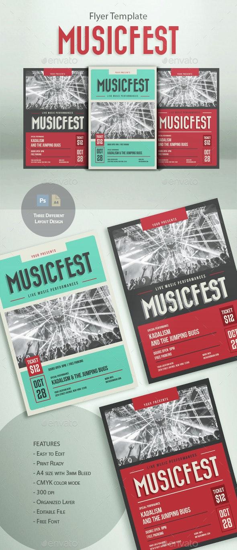 MusicFest Flyer Template - Concerts Events