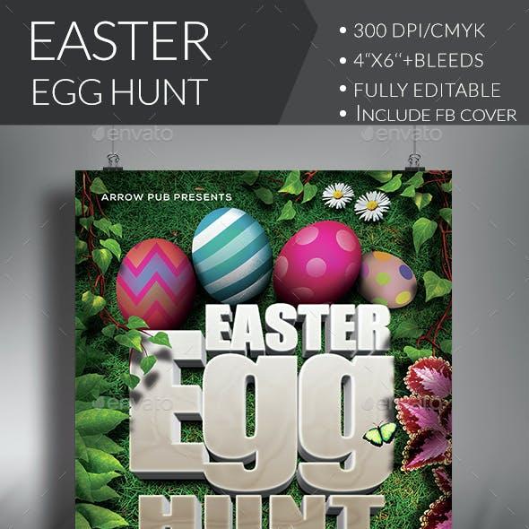 Easter Egg Hunt Flyer + FB Cover