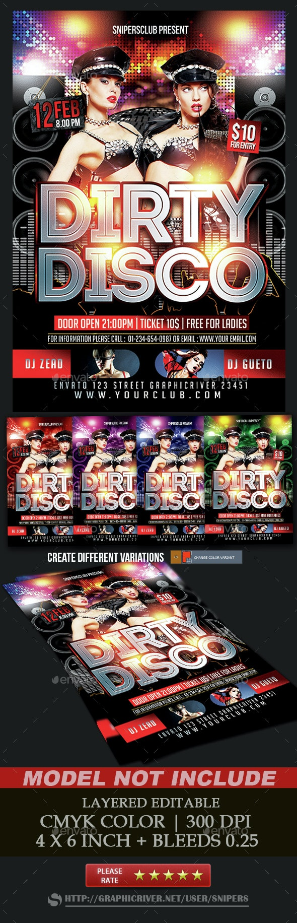 Dirty Disco - Events Flyers