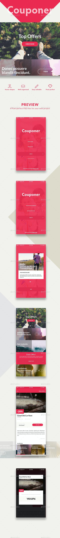 Couponer - Unique Mobile UI Kit - User Interfaces Web Elements