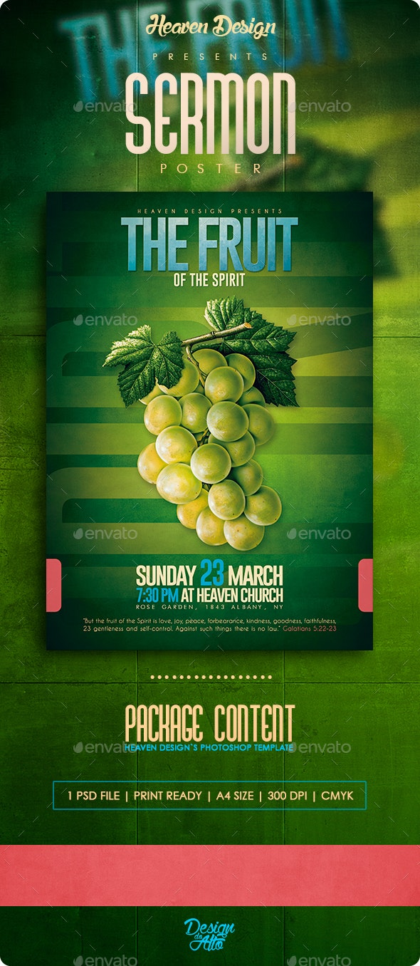 The Fruit of The Spirit | Poster  - Events Flyers