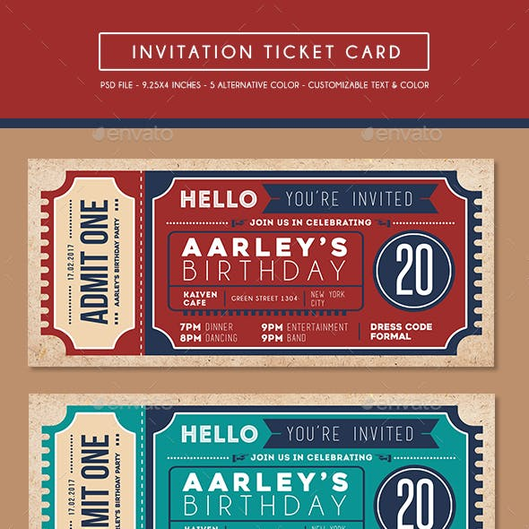 Invitation Ticket