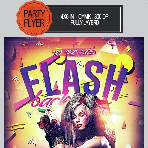 Flash Back 80s Flyer