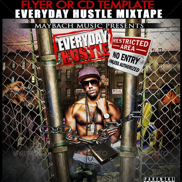 Everyday Hustle Mixtape / Flyer or CD Template