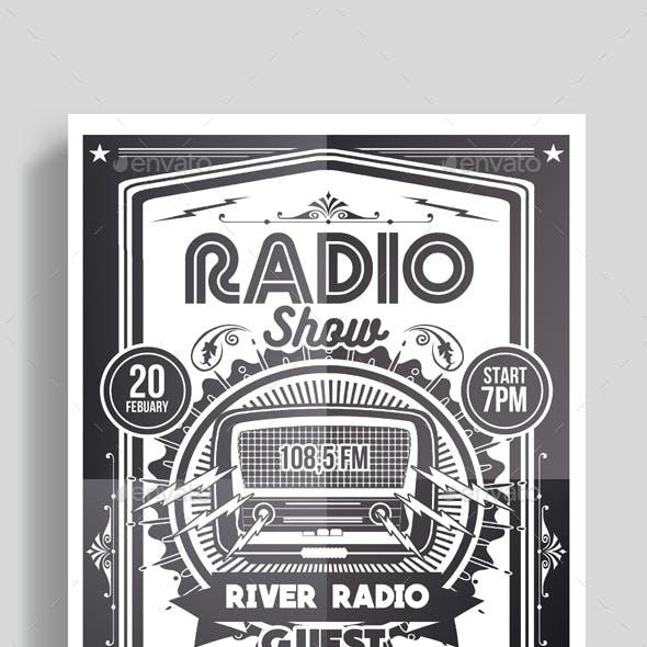 Radio Show Flyer Poster