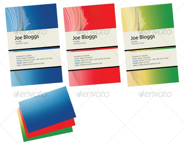 Wave Business Card with Colour Choice - Creative Business Cards