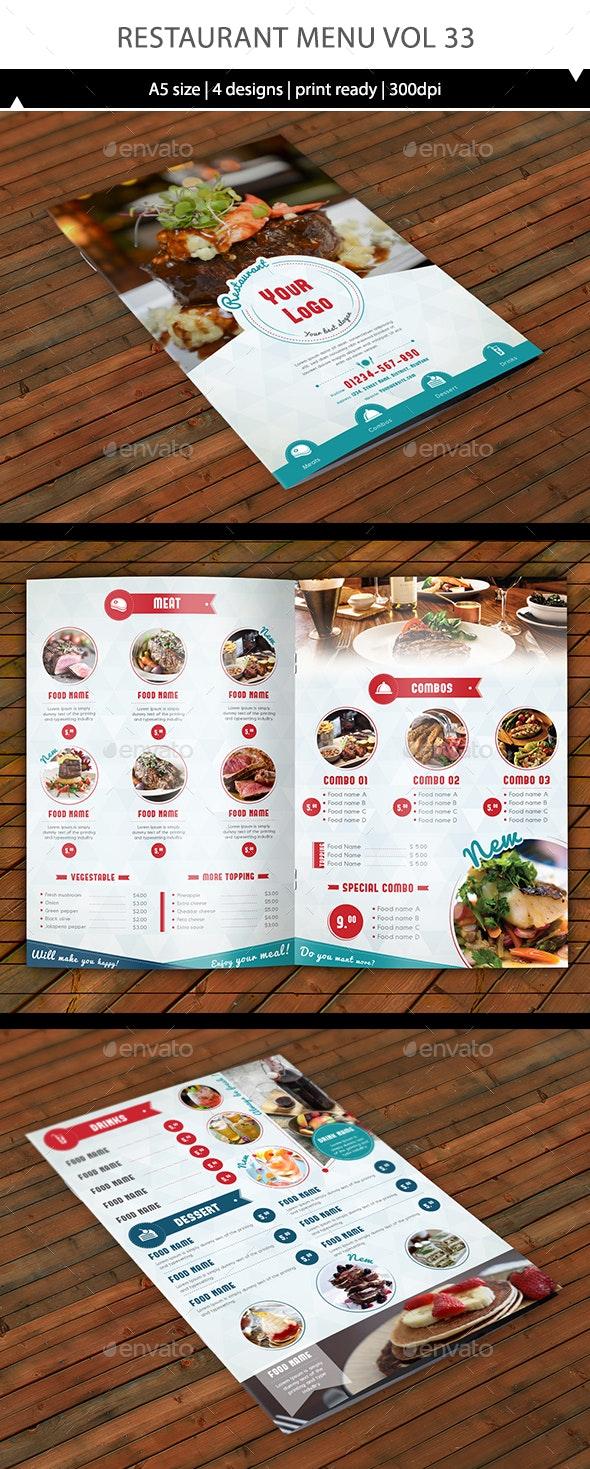 Restaurant Menu Vol 33 - Food Menus Print Templates