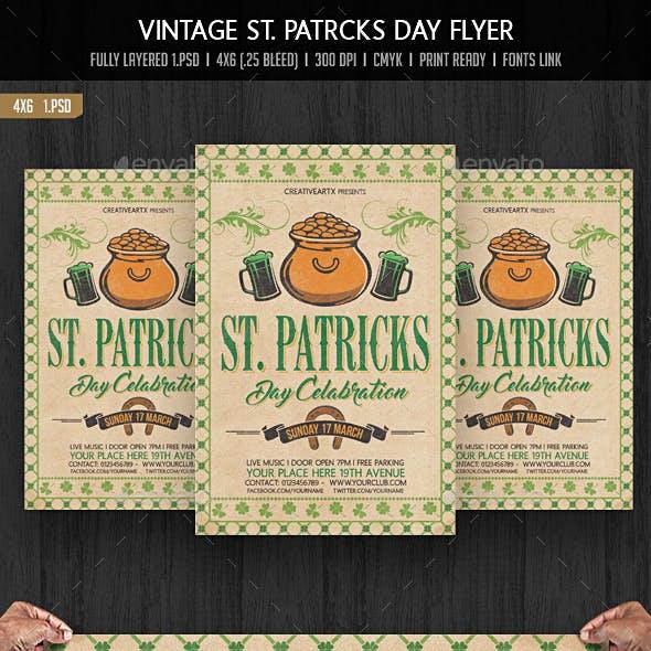 Vintage St. Patricks Day Flyer