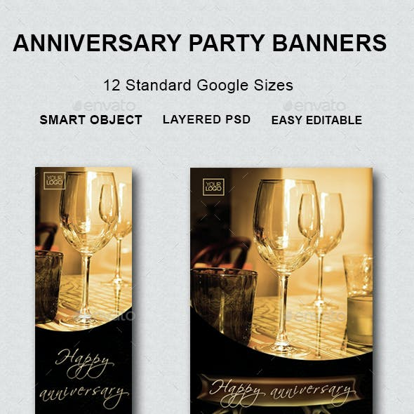 Anniversary Party Banners